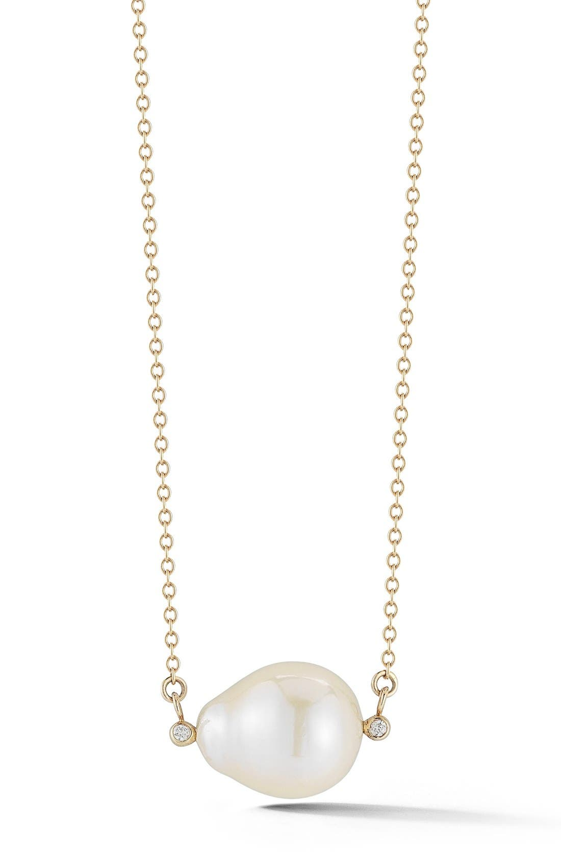 Alternate Image 1 Selected - Mizuki Pearl Pendant Necklace
