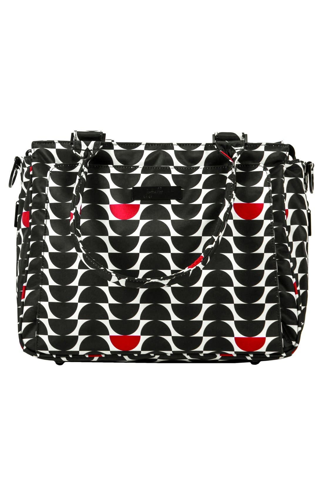 'Be Classy' Diaper Bag,                             Alternate thumbnail 2, color,                             Black Widow