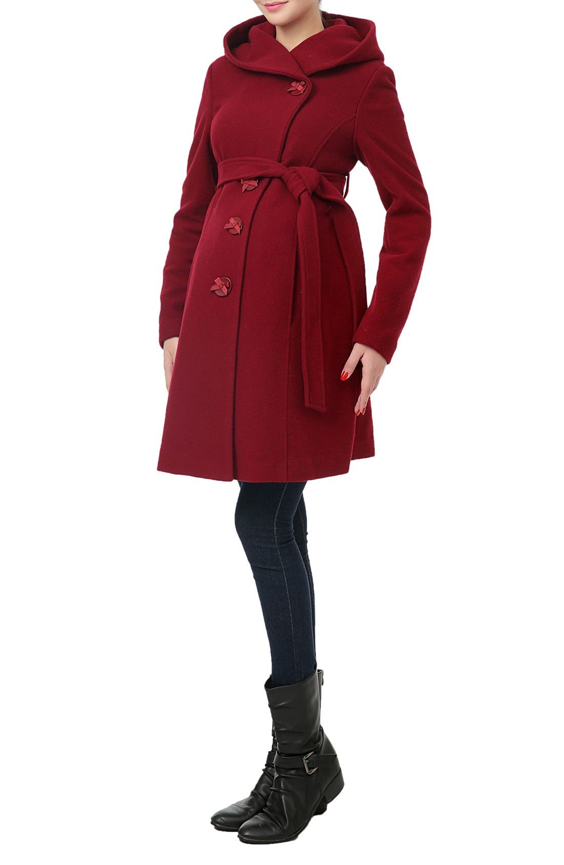 Alternate Image 4  - Kimi and Kai 'Lora' Wool Blend Maternity Coat
