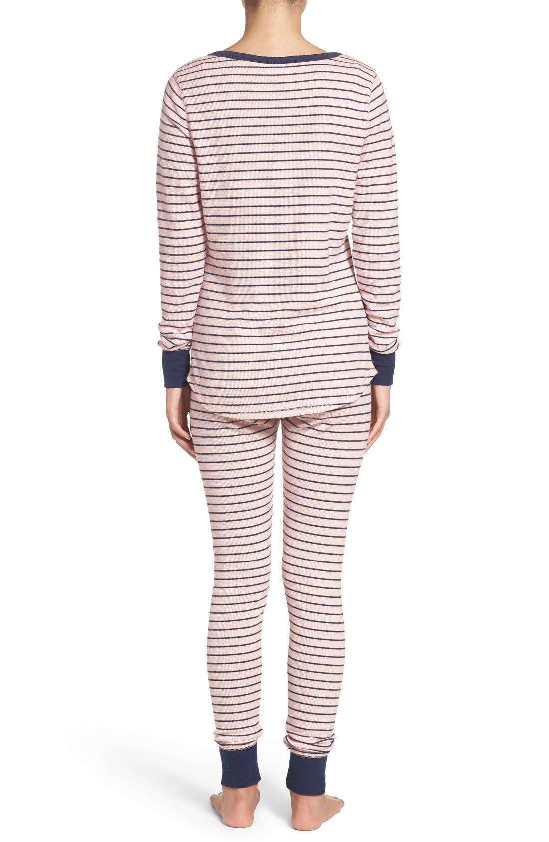 Alternate Image 2  - Nordstrom Lingerie Sleepyhead Thermal Pajamas