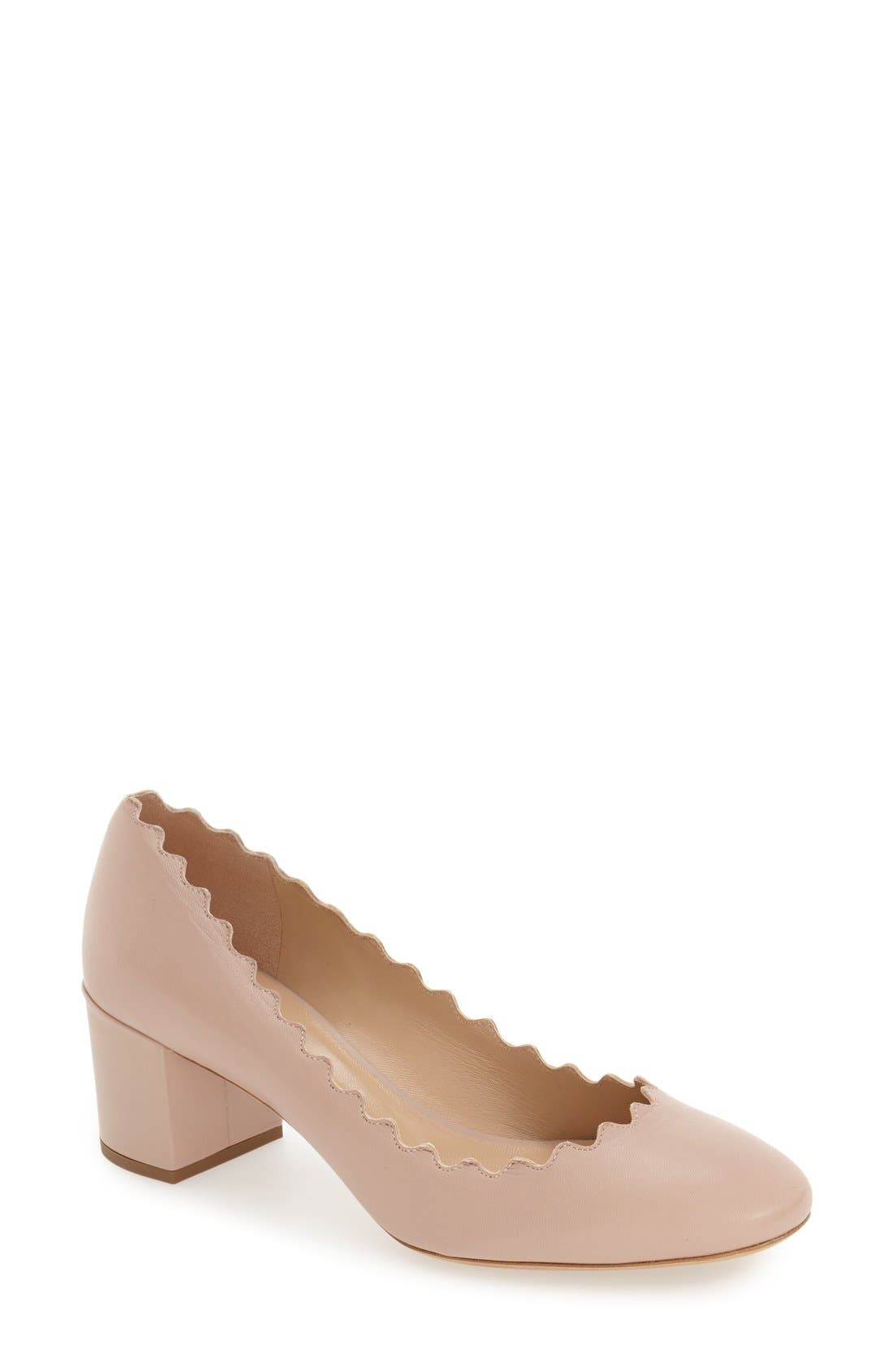 Chloé Lauren Scalloped Pump (Women)