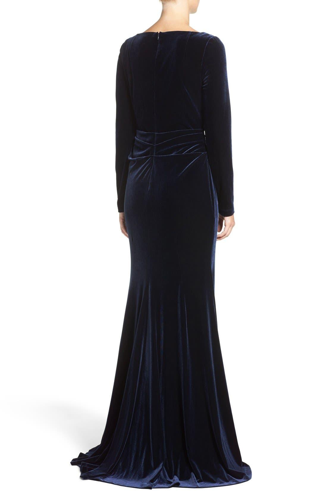 Alternate Image 2  - Vince Camuto Velvet Gown (Regular & Petite)