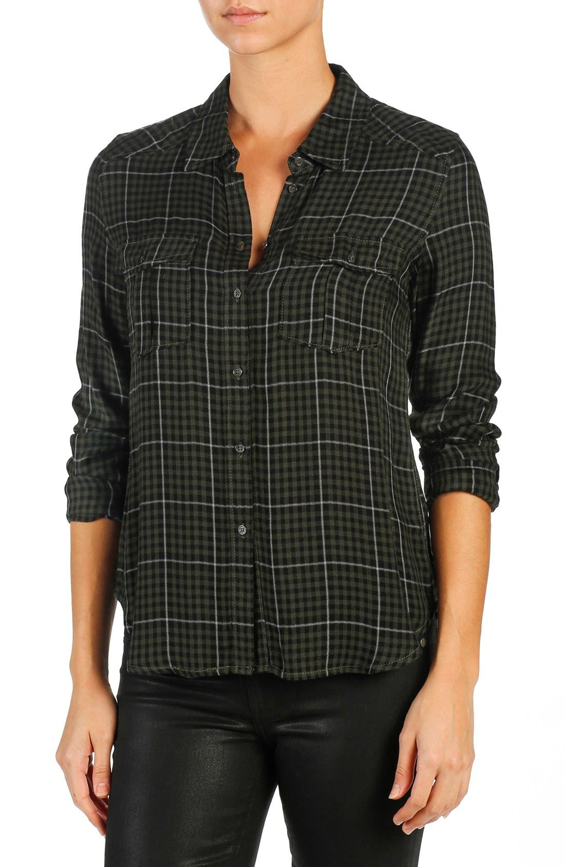 Main Image - PAIGE 'Mya' Plaid Shirt