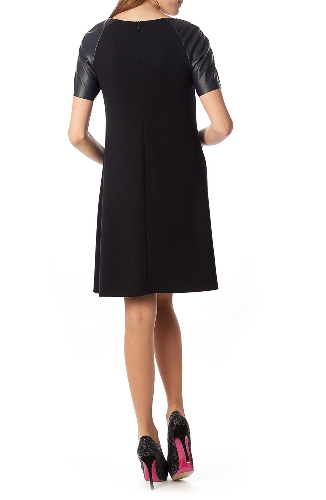 'Knightsbridge' A Line Maternity Dress,                             Alternate thumbnail 2, color,                             Dark Navy