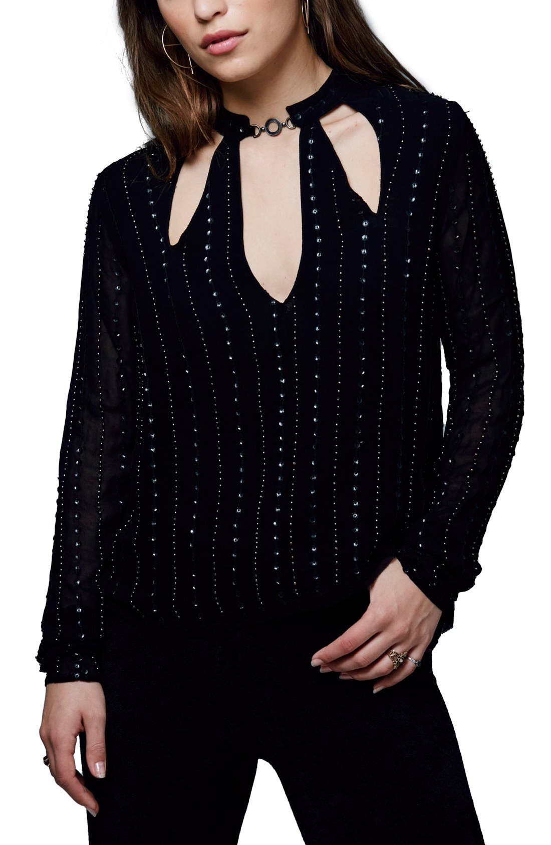 Main Image - Free People 'Young Love' Embellished Blouse