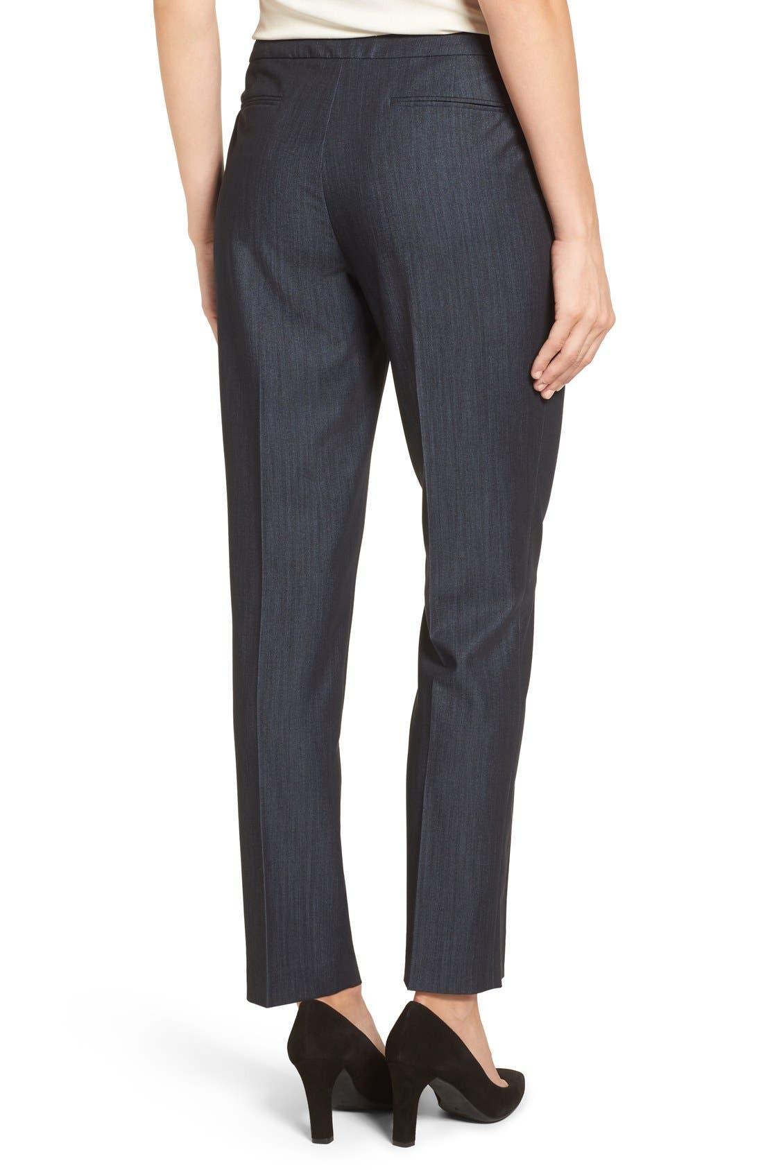 Alternate Image 2  - Anne Klein Slim Stretch Denim Suit Pants