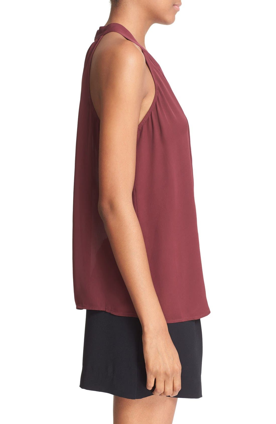 Alternate Image 3  - Joie 'Melisent' Sleeveless Tie Neck Silk Blouse