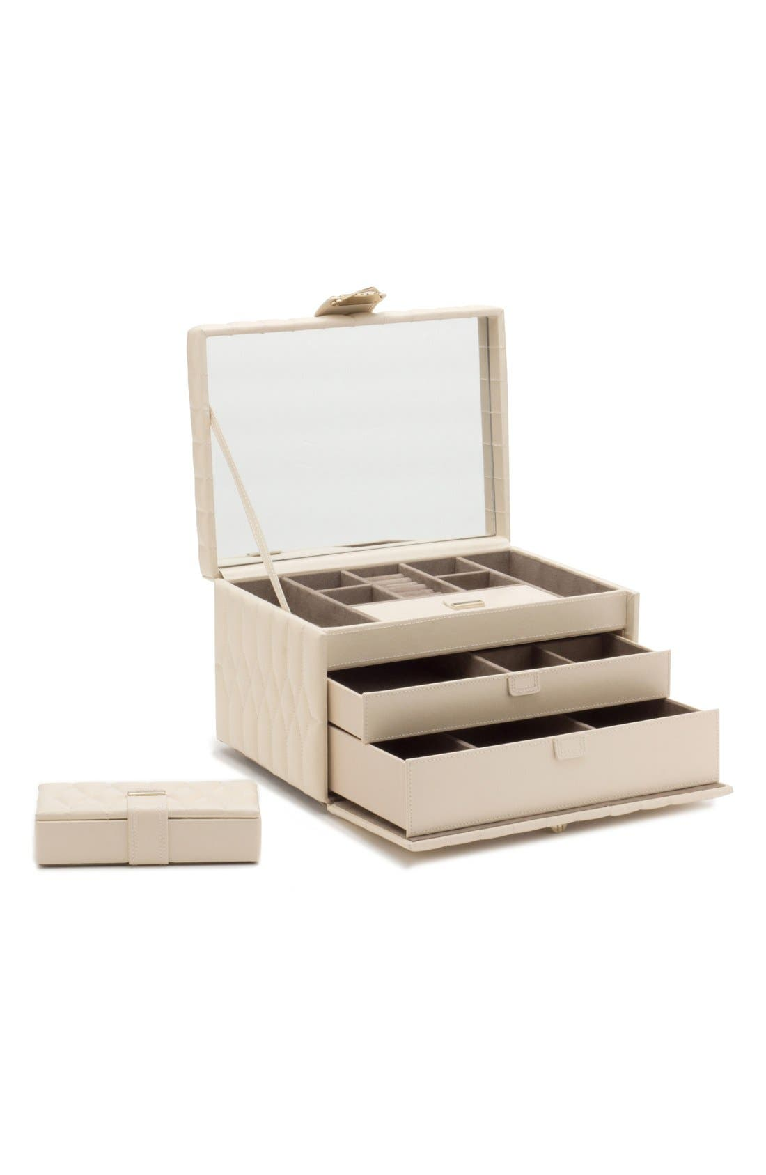 Caroline Jewelry Case,                             Alternate thumbnail 6, color,                             Ivory