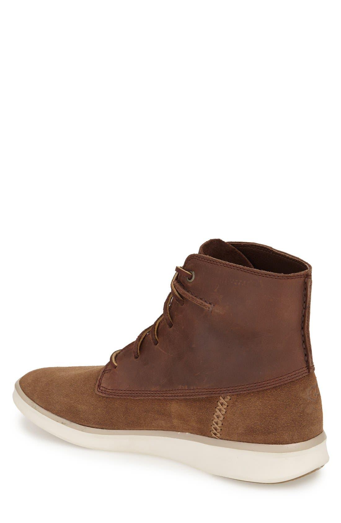 Alternate Image 2  - UGG® 'Lamont' High Top Sneaker (Men)