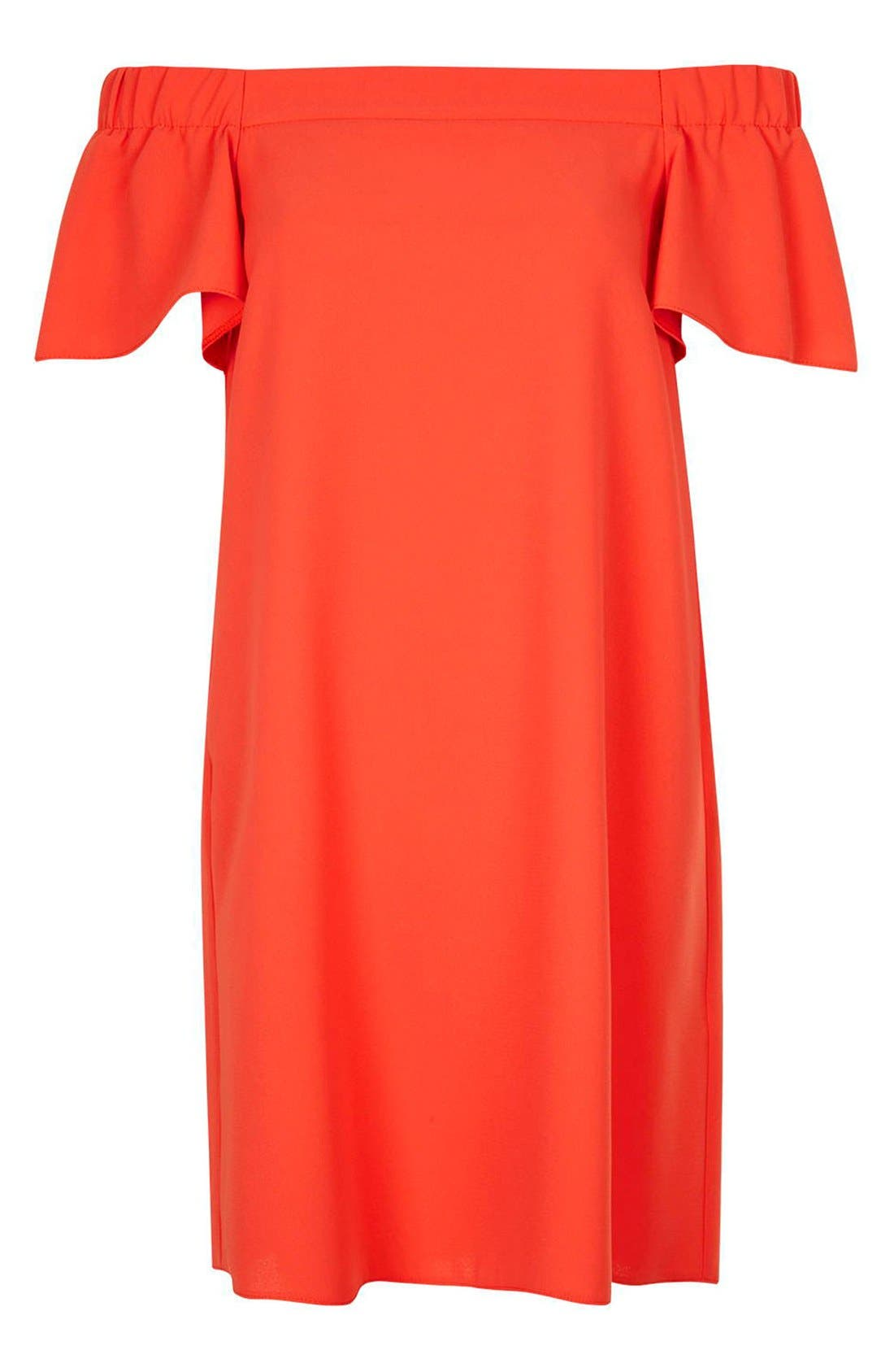 Alternate Image 4  - Topshop Off the Shoulder Trapeze Dress (Regular & Petite)