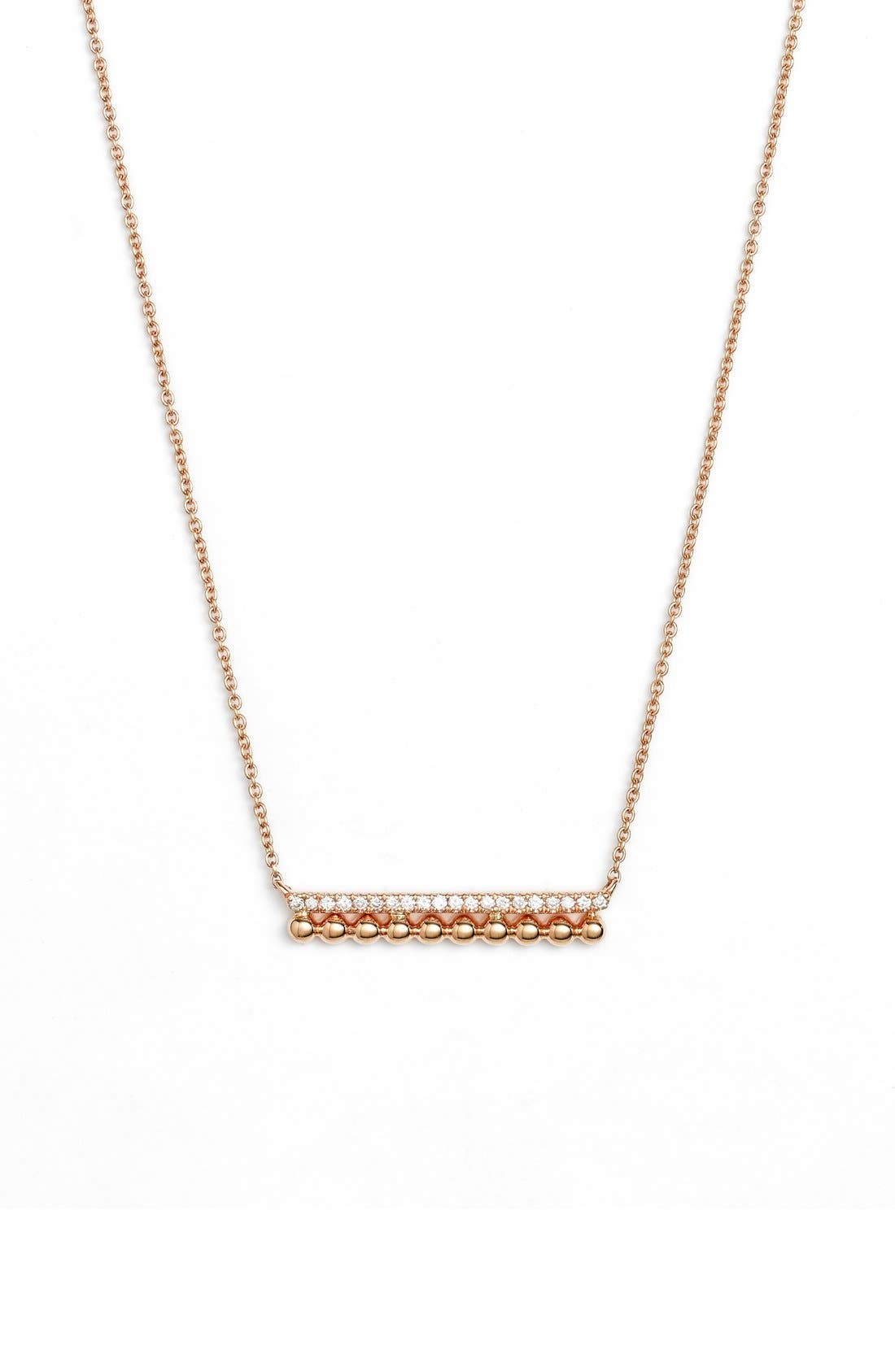 'Poppy Rae' Bar Pendant Necklace,                             Main thumbnail 1, color,                             Yellow Gold