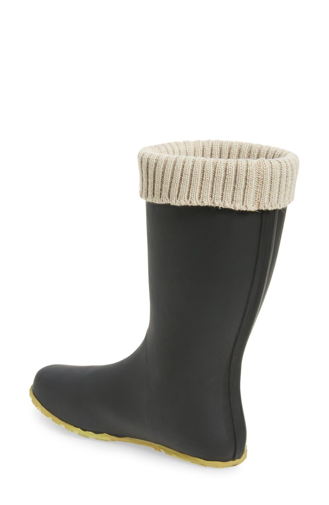 Weatherproof Rain Boot,                             Alternate thumbnail 2, color,                             Black