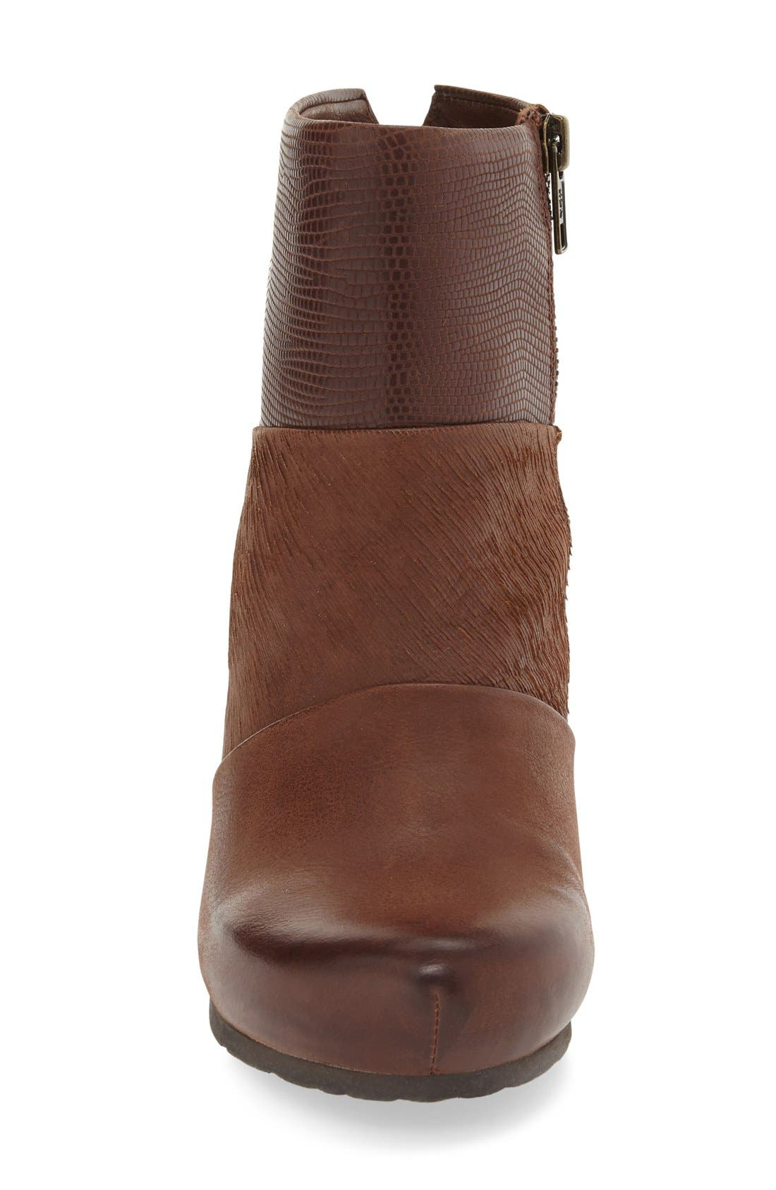 'Dharma' Wedge Bootie,                             Alternate thumbnail 3, color,                             Acorn Leather