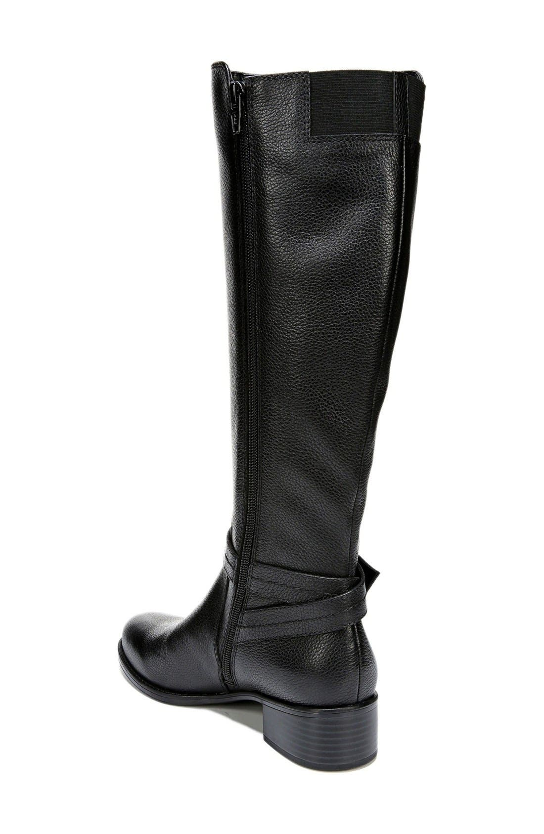'Wynnie' Riding Boot,                             Alternate thumbnail 2, color,                             Black Leather