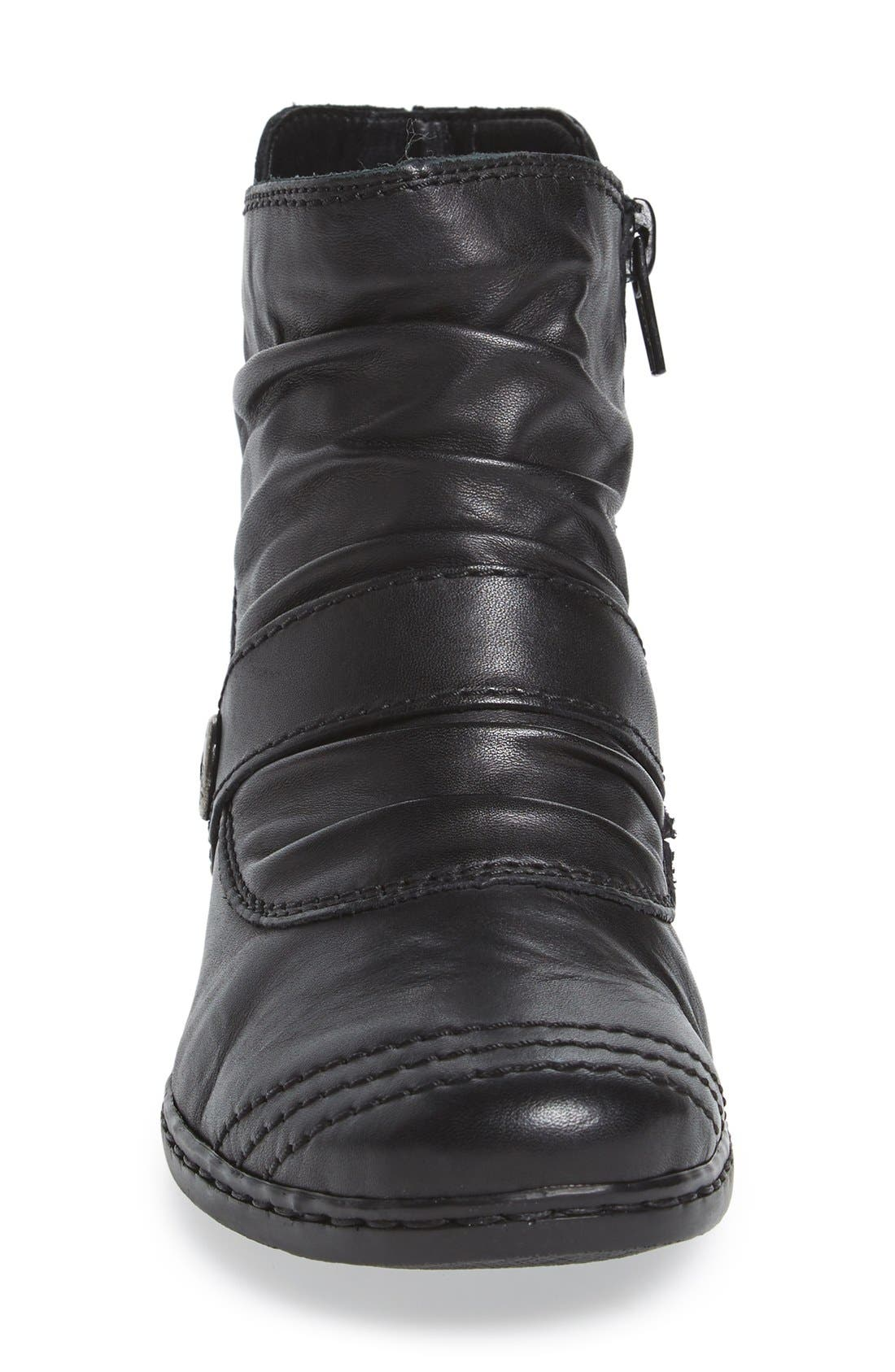 'Lynn 63' Slouchy Bootie,                             Alternate thumbnail 3, color,                             New Black Leather