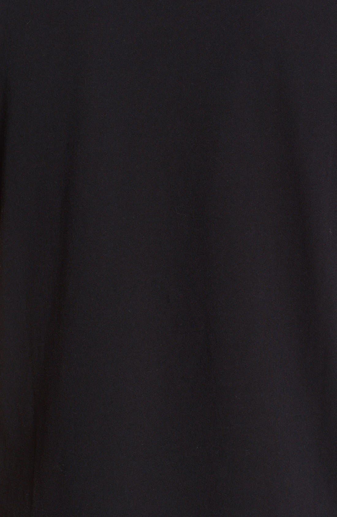Comme des Garçons PLAY Logo Graphic T-Shirt,                             Alternate thumbnail 5, color,                             Black