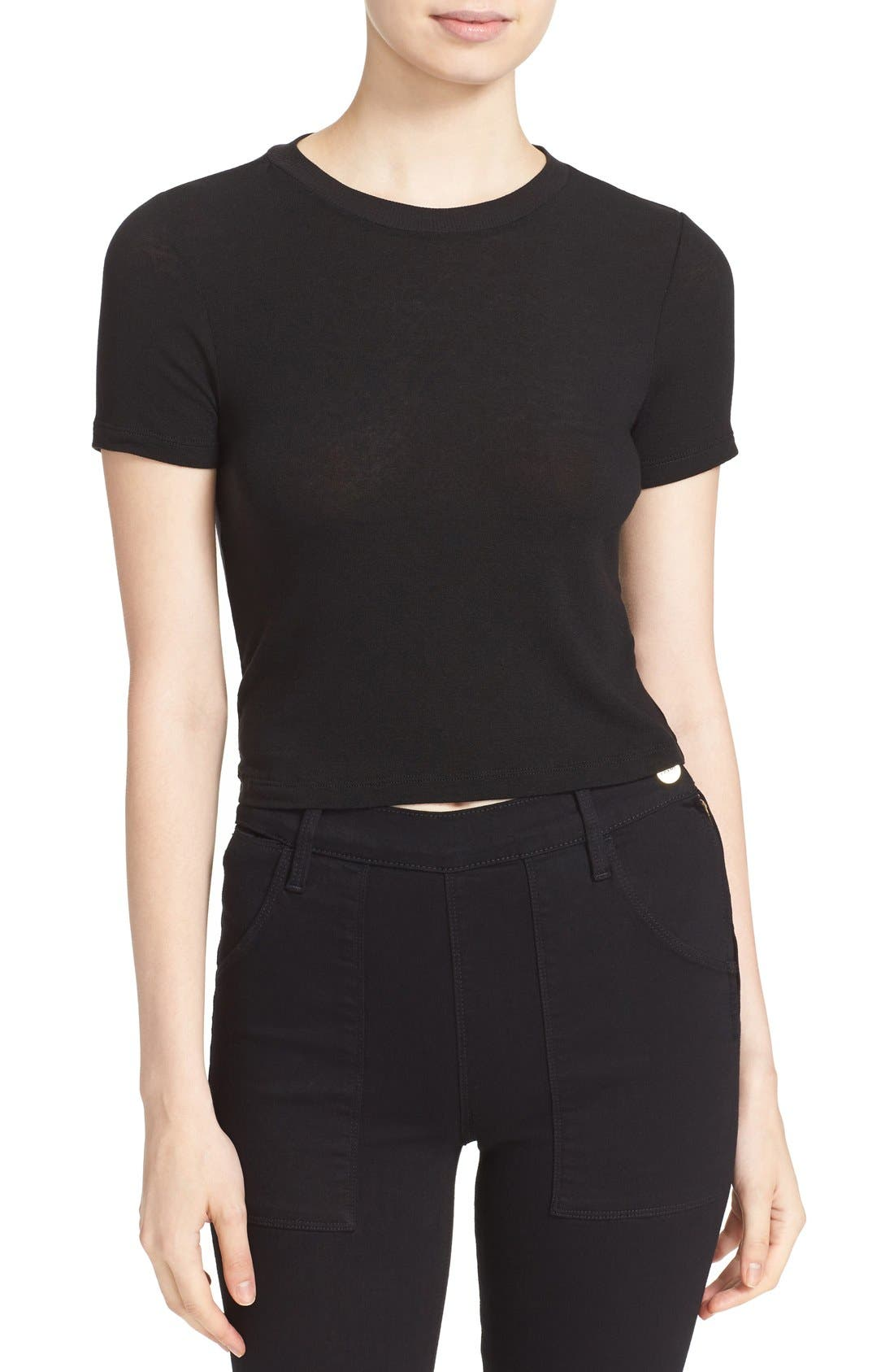ALICE + OLIVIA Jazmine Crewneck Crop Top