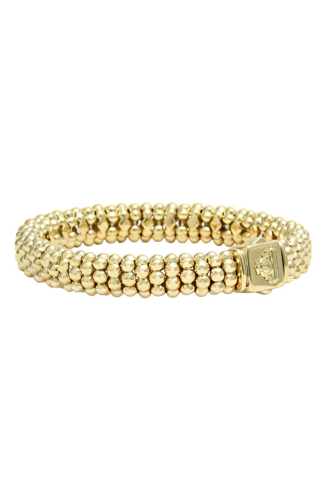 'Caviar Gold' Rope Bracelet,                             Alternate thumbnail 2, color,                             Gold
