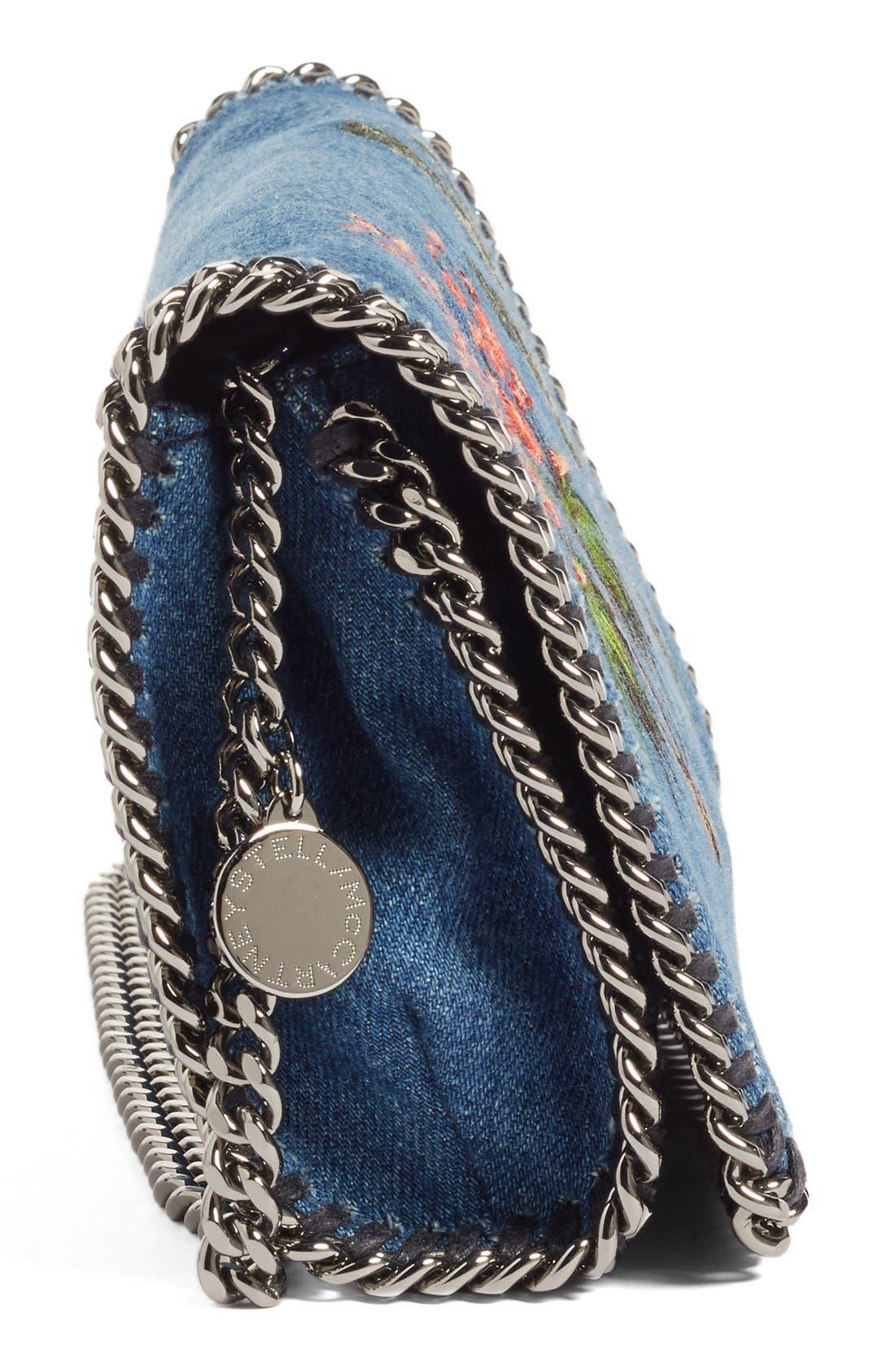 Alternate Image 4  - Stella McCartney Embroidered Denim Shoulder Bag