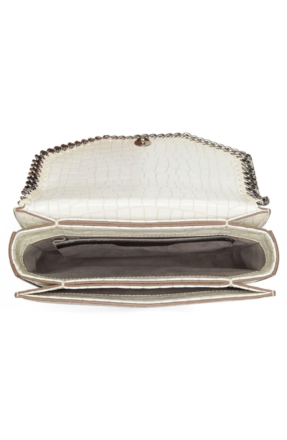 Falabella Box Shoulder Bag,                             Alternate thumbnail 3, color,                             Ivory