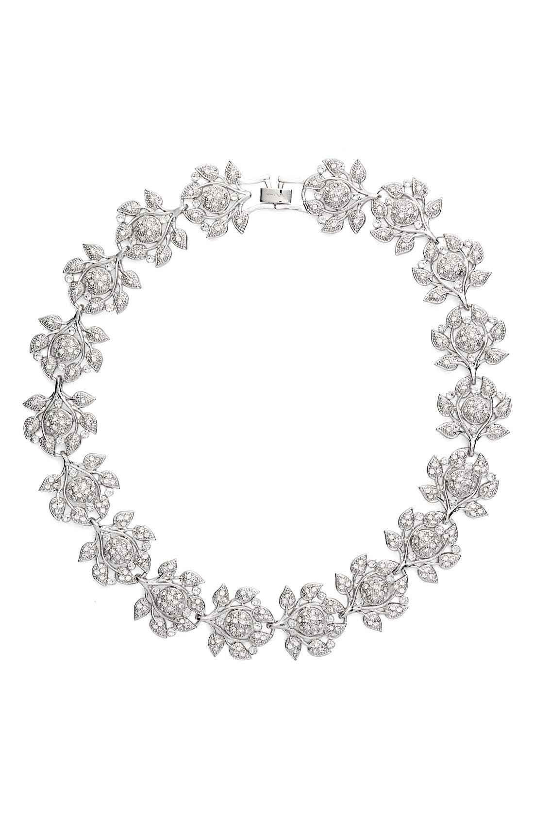 NINA Camilia Crystal Collar Necklace