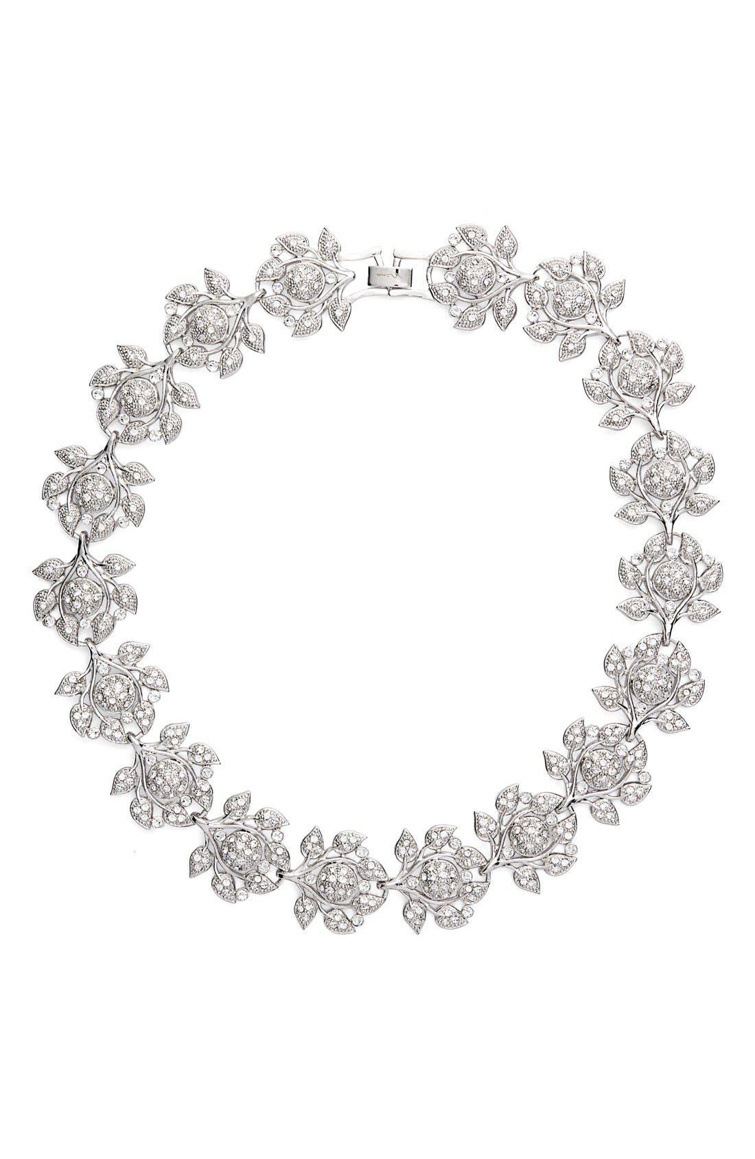 Nina 'Camilia' Crystal Collar Necklace
