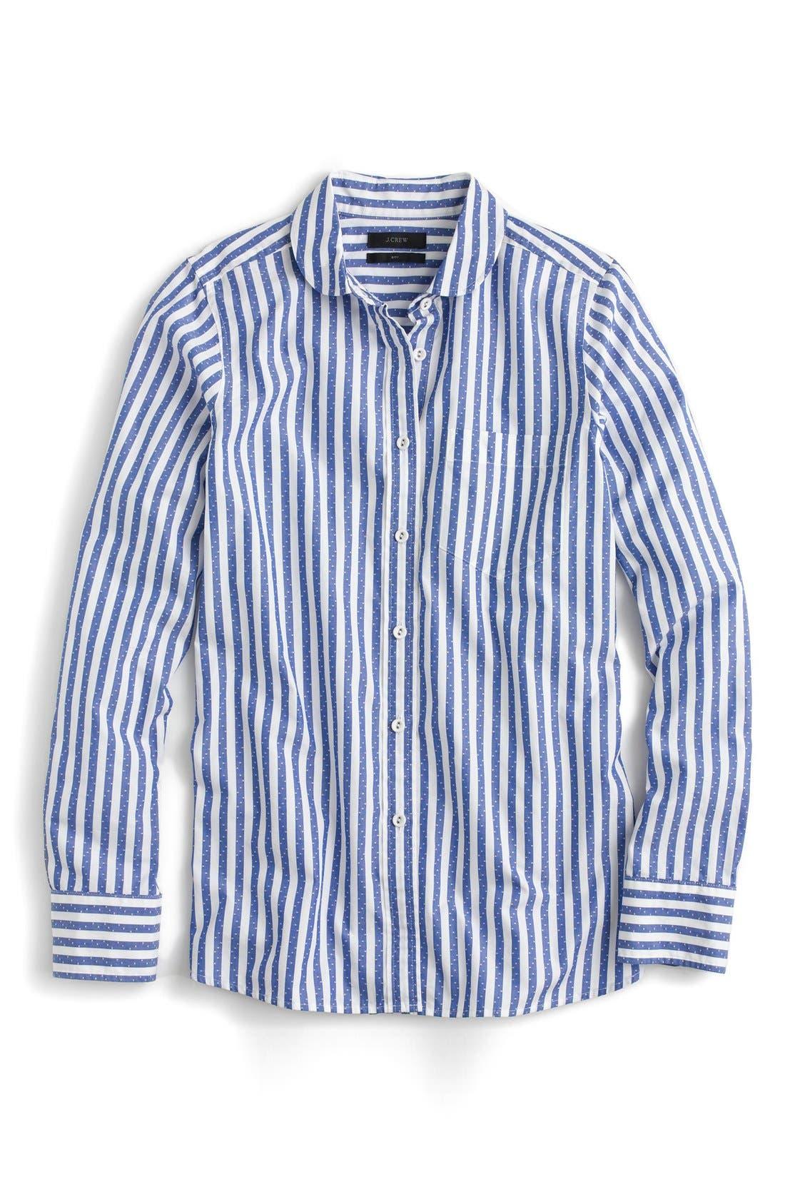 Alternate Image 4  - J.Crew Club Collar Jacquard Stripe Boy Shirt (Regular & Petite)
