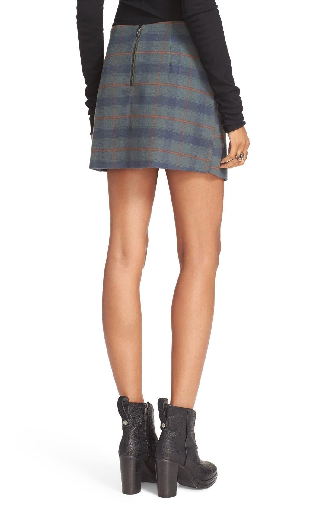 Alternate Image 2  - Free People Teenage Crush Plaid Miniskirt