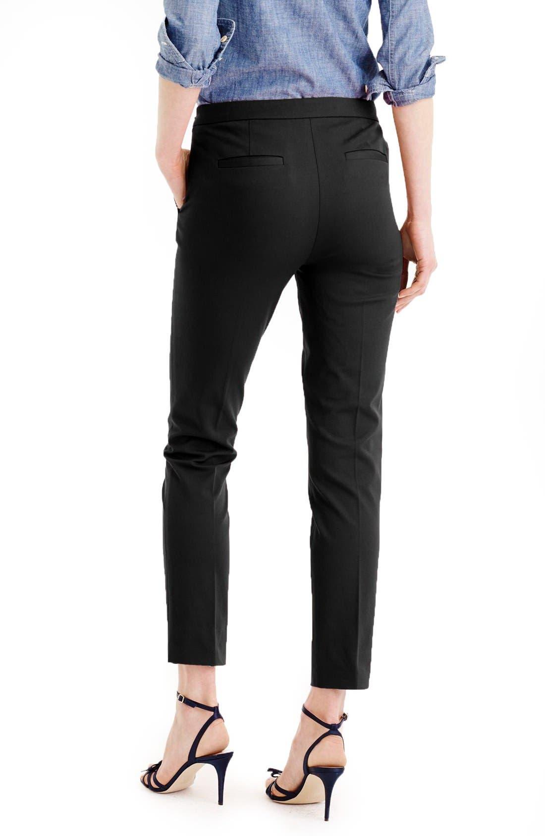Alternate Image 2  - J.Crew 'Martie' Bi-Stretch Cotton Blend Pants (Regular & Petite)