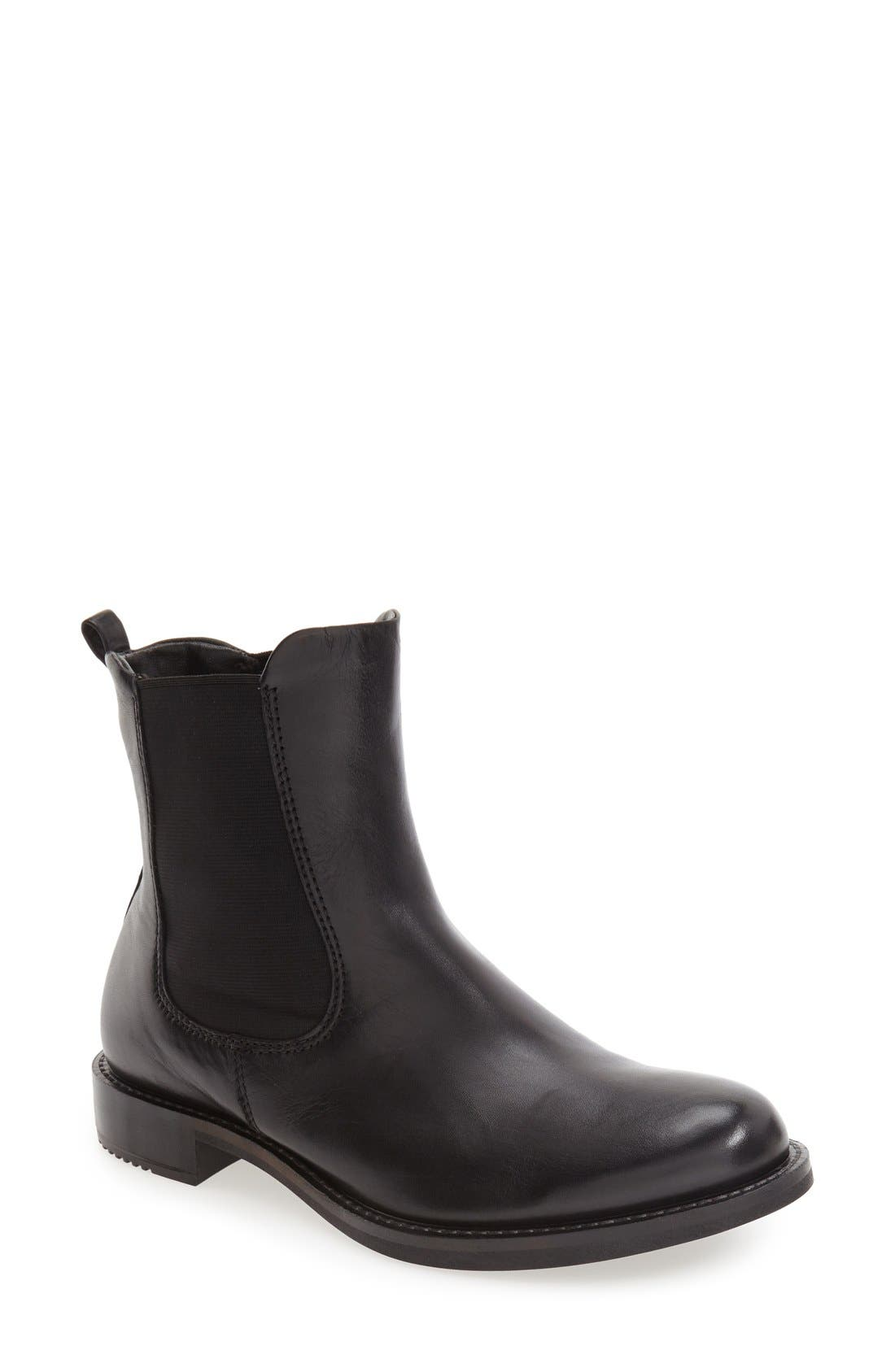 'Shape 25' Chelsea Boot,                             Main thumbnail 1, color,                             Black Leather