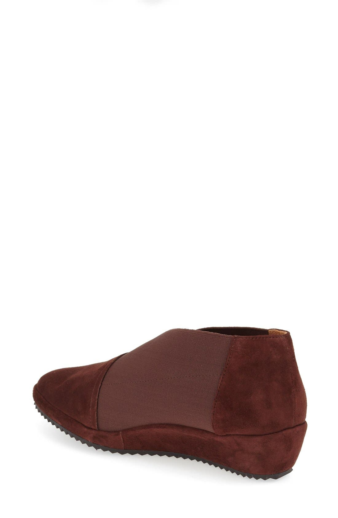 'Bowden' Slip-On Wedge,                             Alternate thumbnail 2, color,                             Espresso Suede Leather