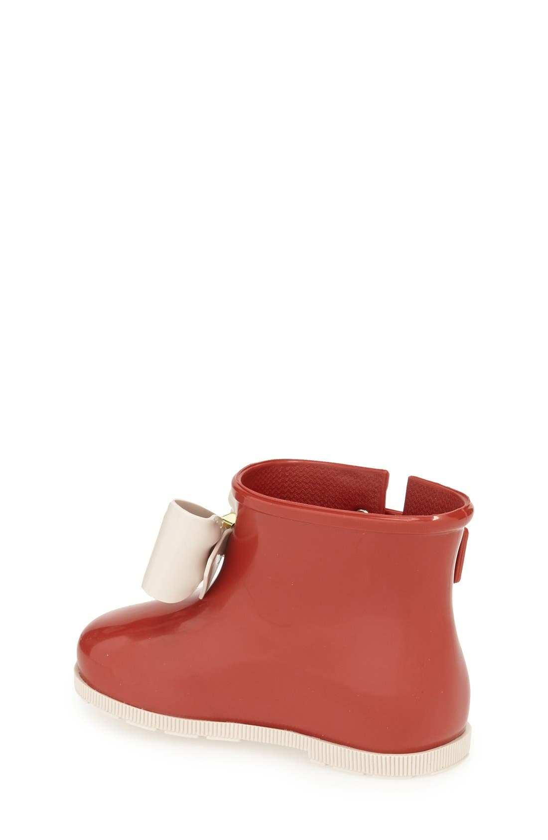 'Mini Sugar' Rain Boot,                             Alternate thumbnail 2, color,                             Burgundy