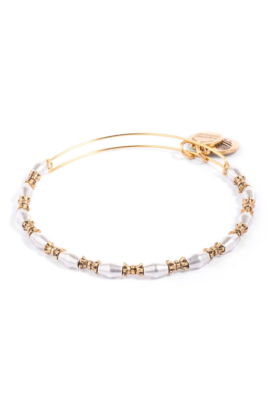 Alternate Image 1 Selected - Alex and Ani 'Juniper' Two Tone Adjustable Wire Bangle