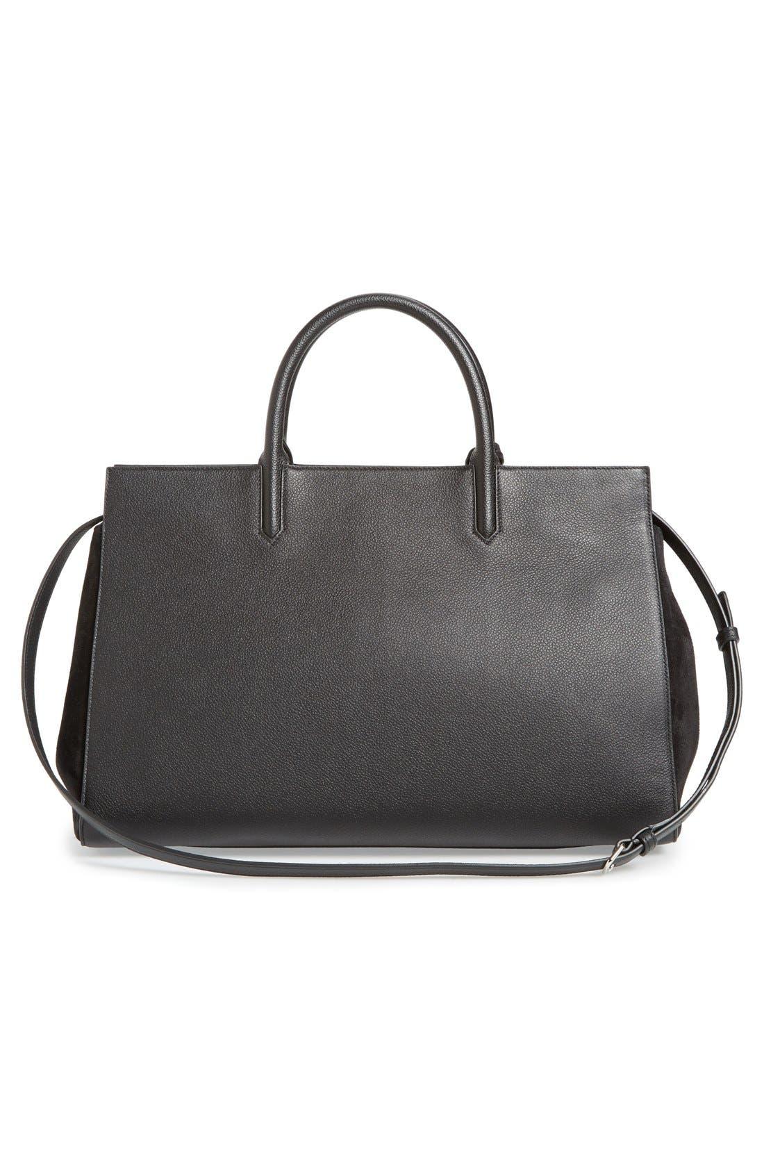 Alternate Image 3  - Saint Laurent 'Medium Rive Gauche' Grained Leather Satchel
