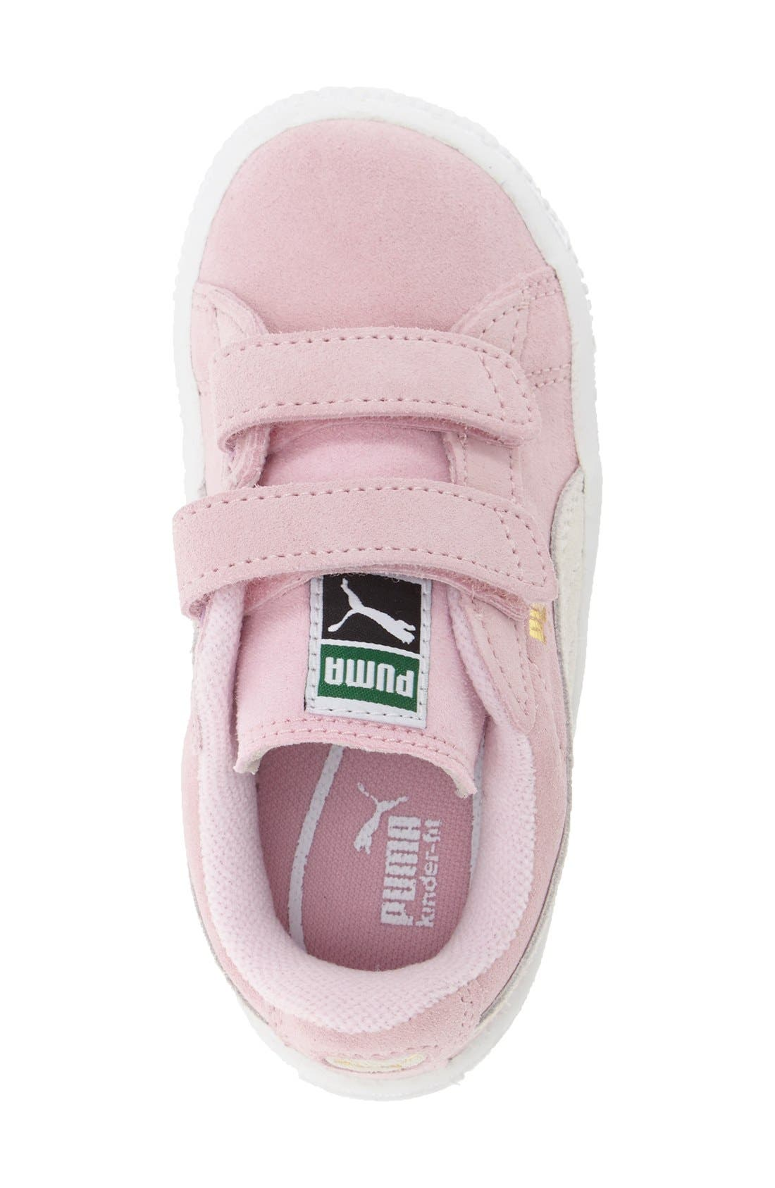 Suede Sneaker,                             Alternate thumbnail 3, color,                             Pink Lady/ Team Gold
