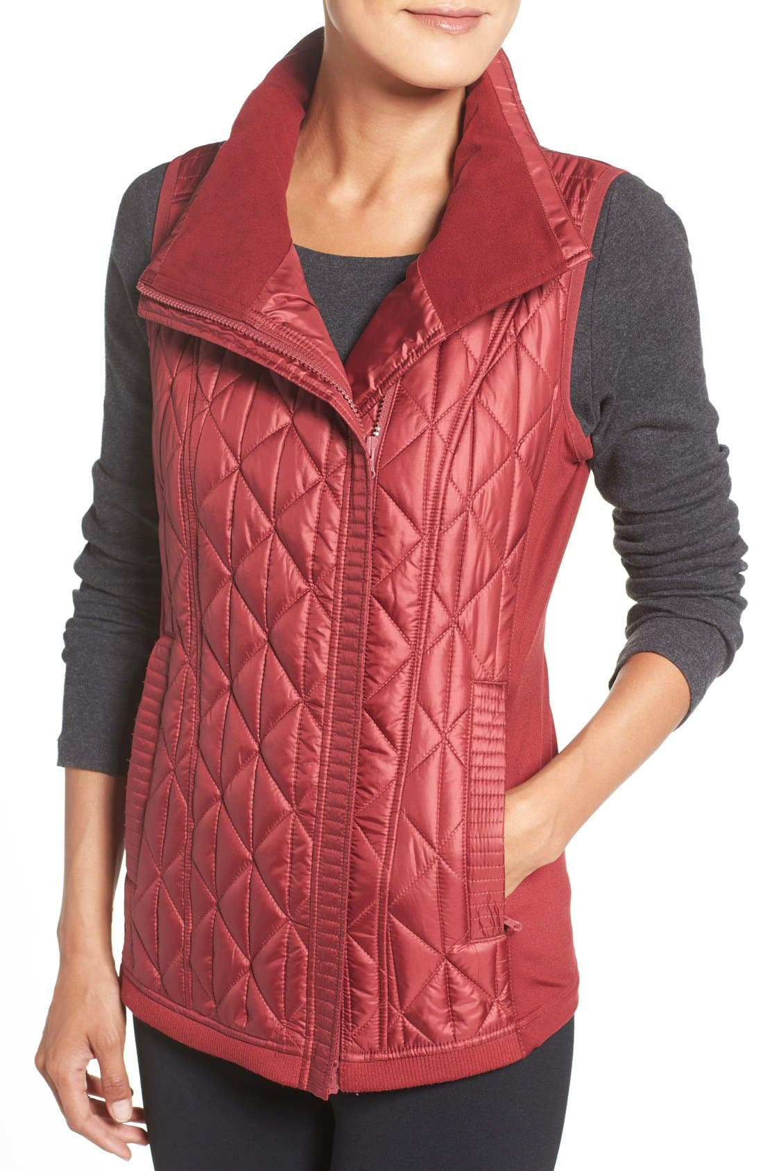 Alternate Image 4  - Zella Brooklyn Quilted Vest