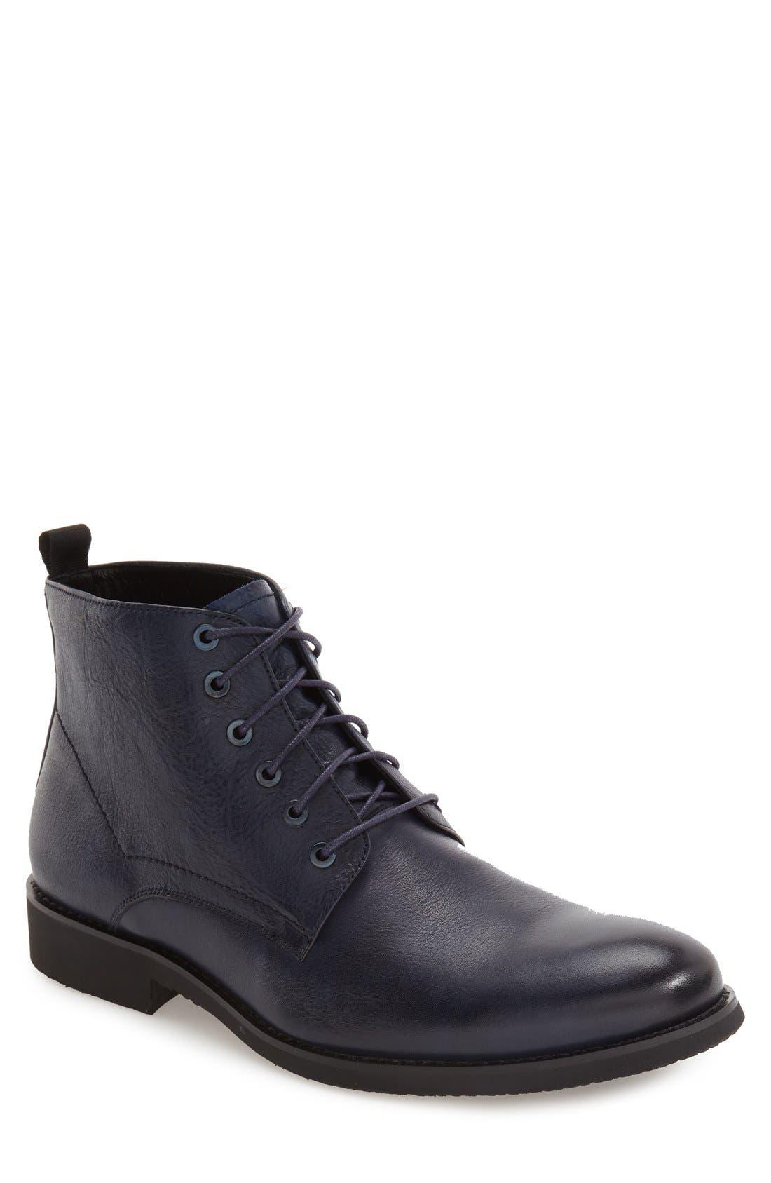 'Nereto' Plain Toe Boot,                             Main thumbnail 1, color,                             Navy