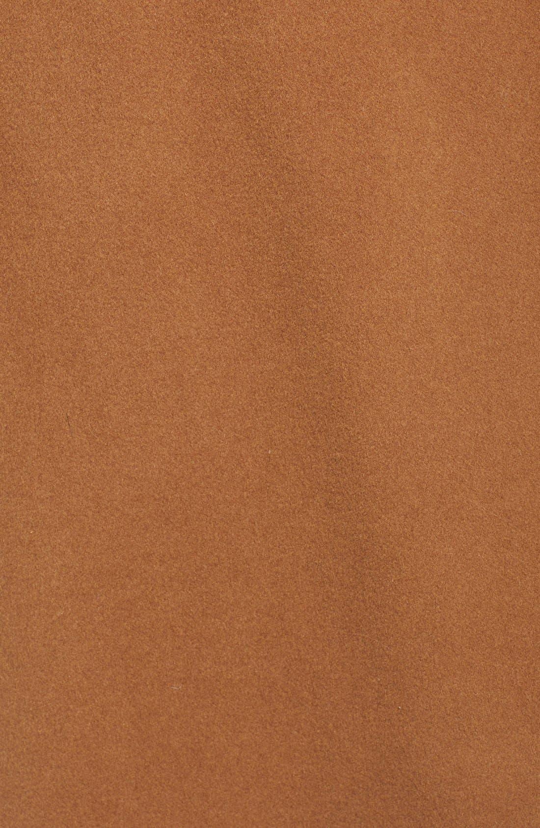 Alternate Image 2  - Diane von Furstenberg Shawl Collar Wool Blend Long Wrap Coat