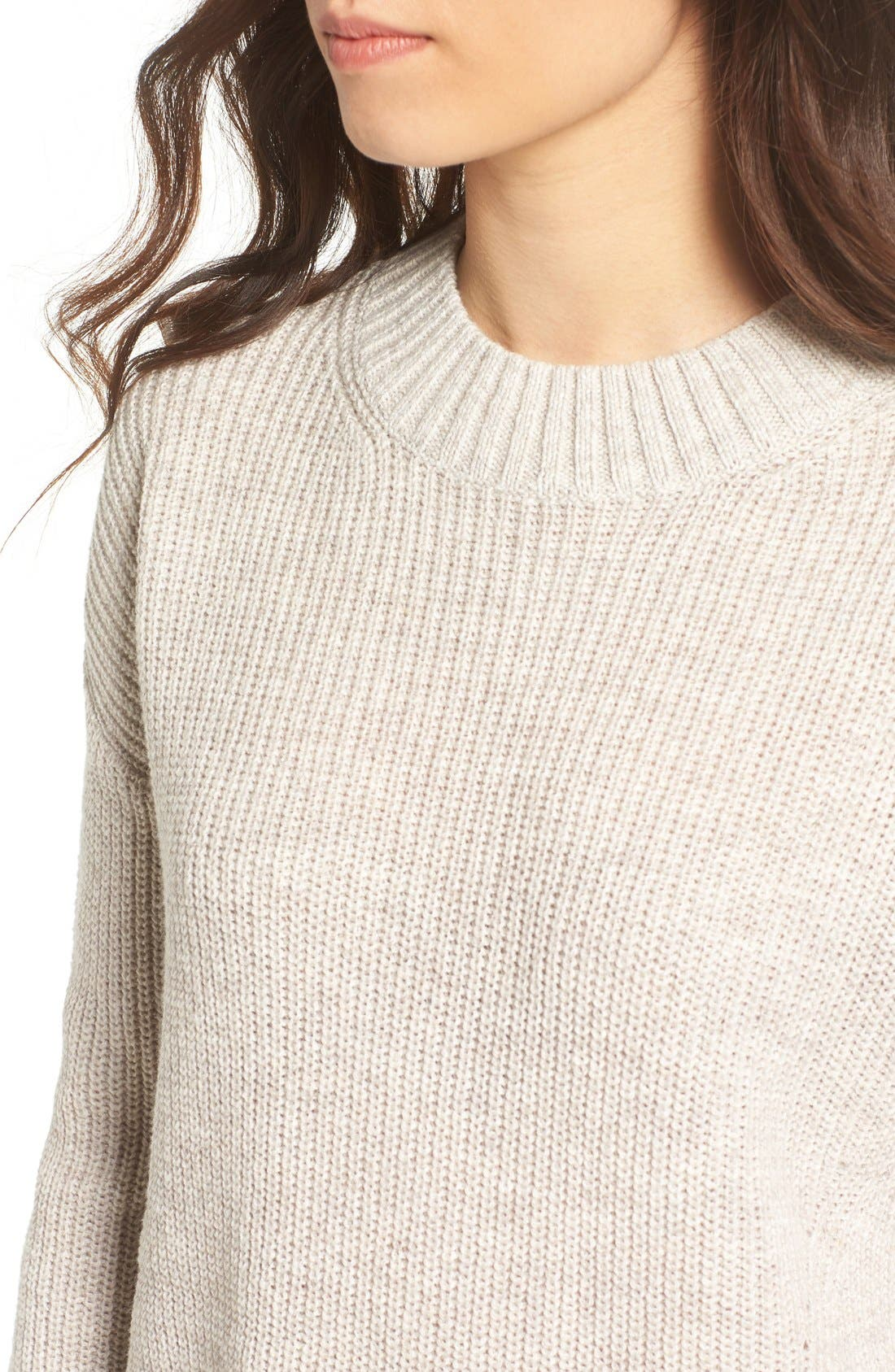 Alternate Image 4  - BP. Ribbed Mock Neck Pullover