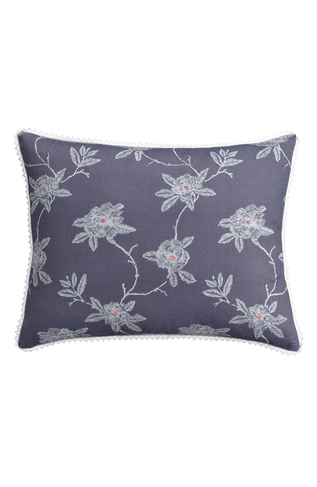 Alternate Image 1 Selected - cupcakes and cashmere 'Sketch' Floral Print Sham