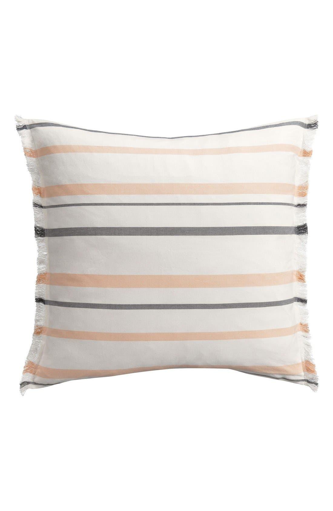 Stripe Euro Sham,                         Main,                         color, Peach/ Multi