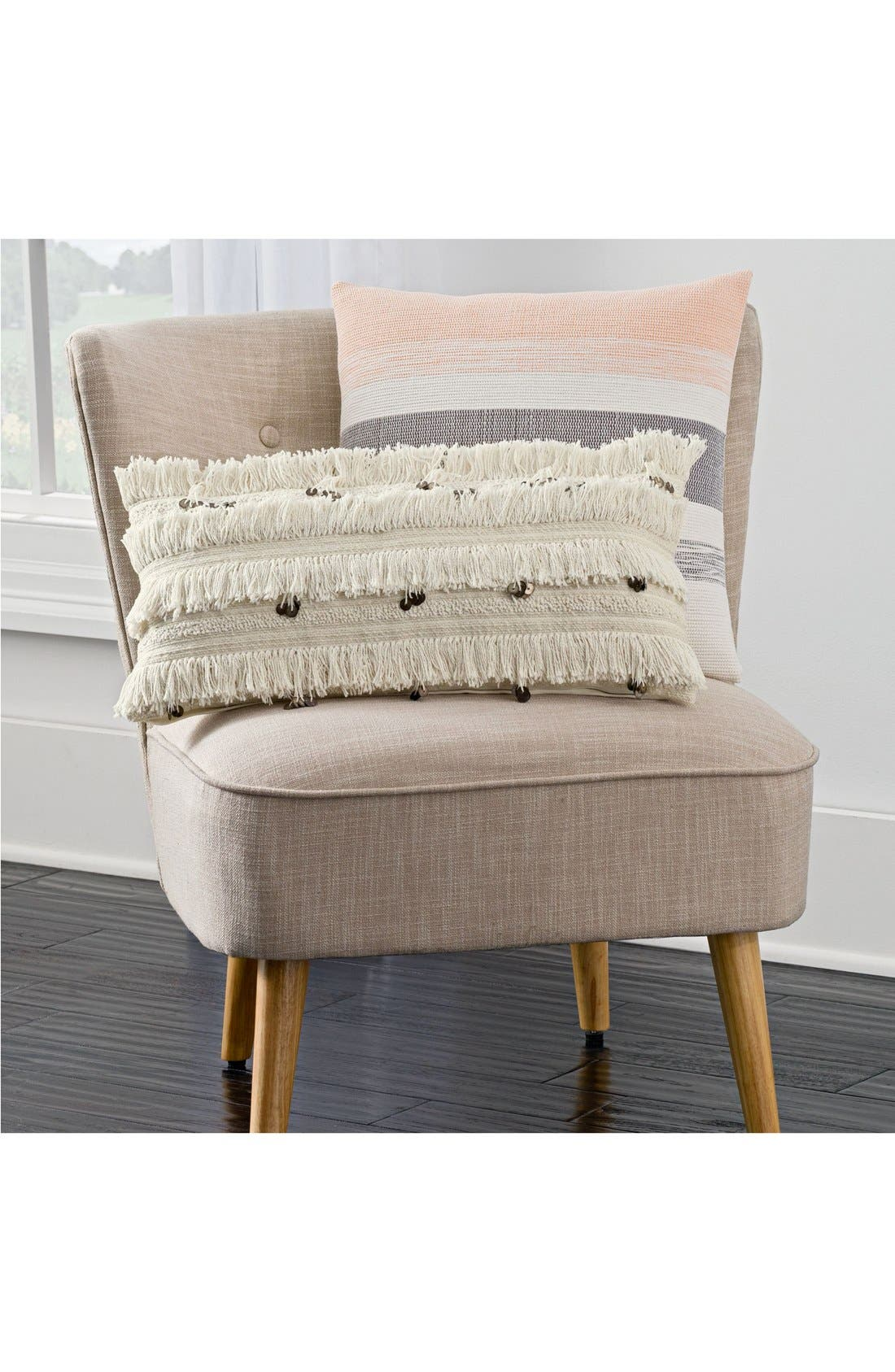 Alternate Image 2  - cupcakes and cashmere Fringe Sequin Accent Pillow