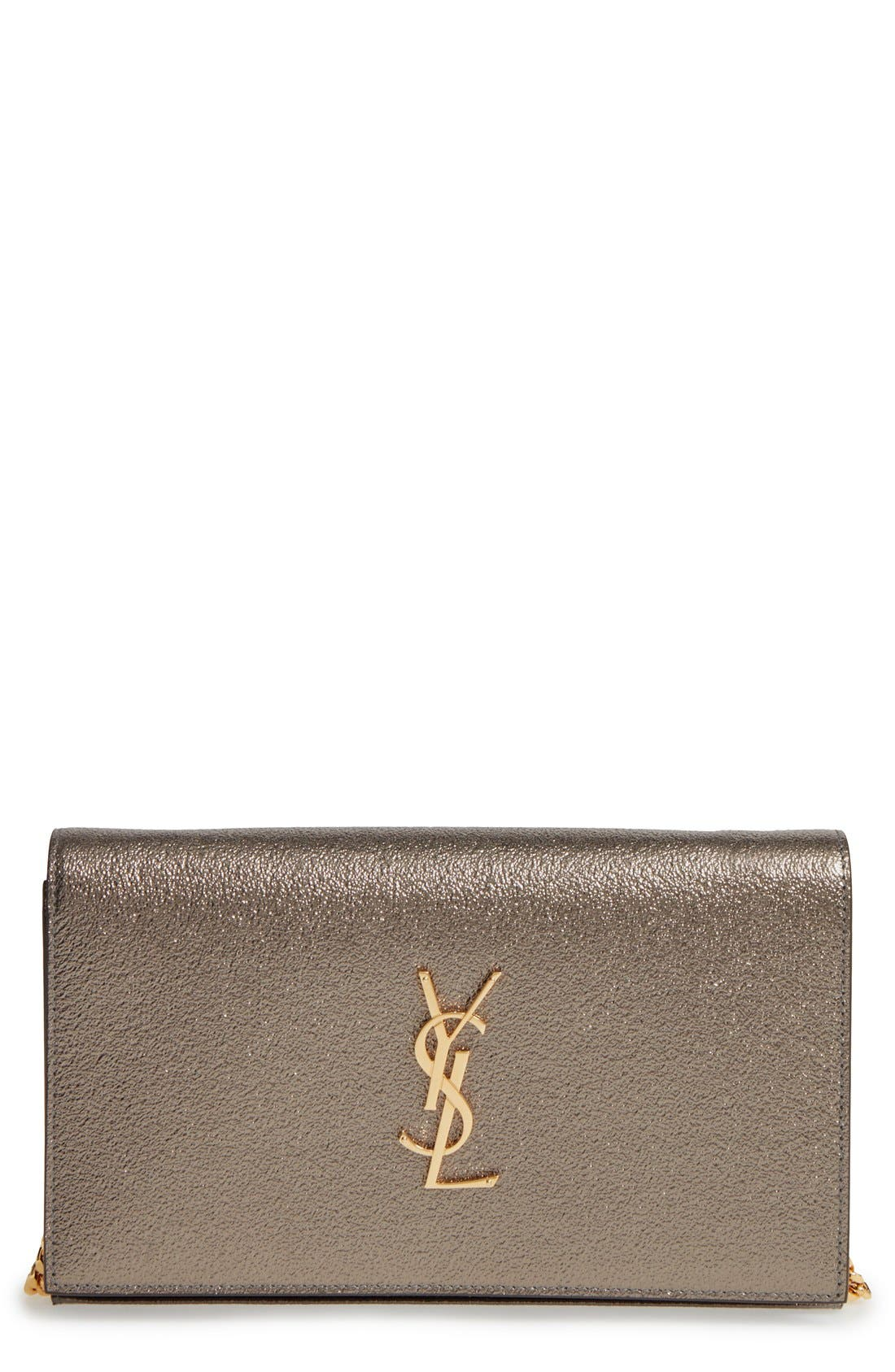 Alternate Image 1 Selected - Saint Laurent Leather Wallet on a Chain