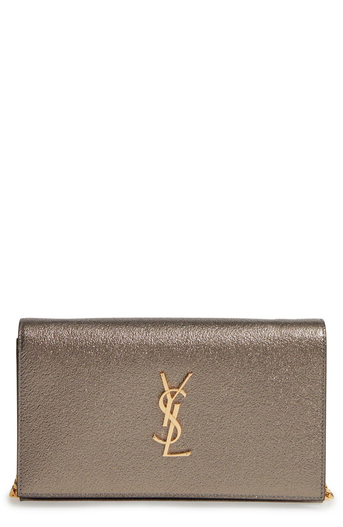 Main Image - Saint Laurent Leather Wallet on a Chain