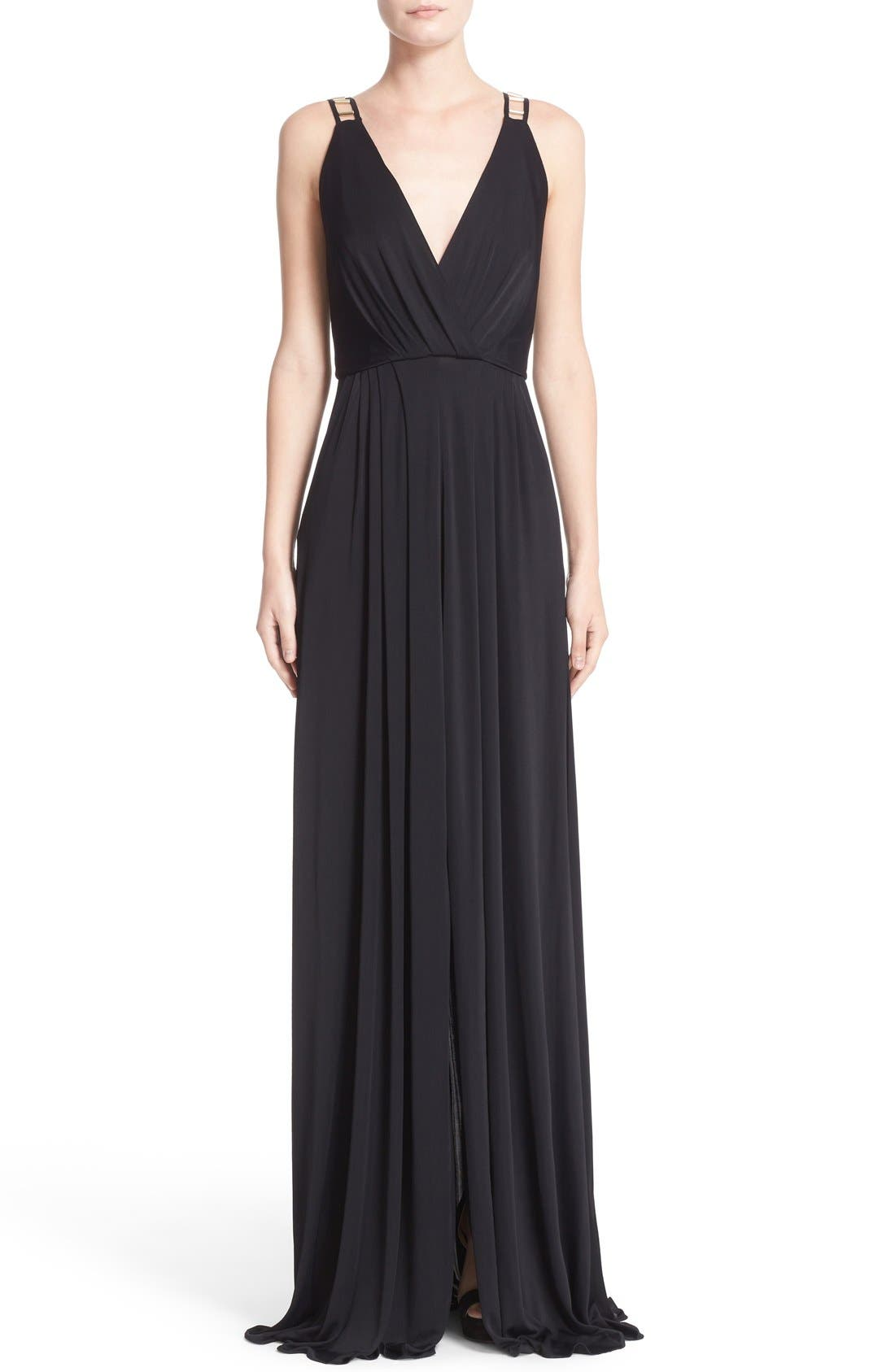 Alternate Image 1 Selected - Versace Embellished Matte Jersey Gown