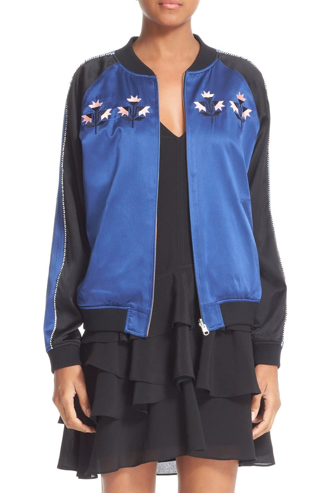 Main Image - Opening Ceremony Reversible Embroidered Silk Bomber Jacket