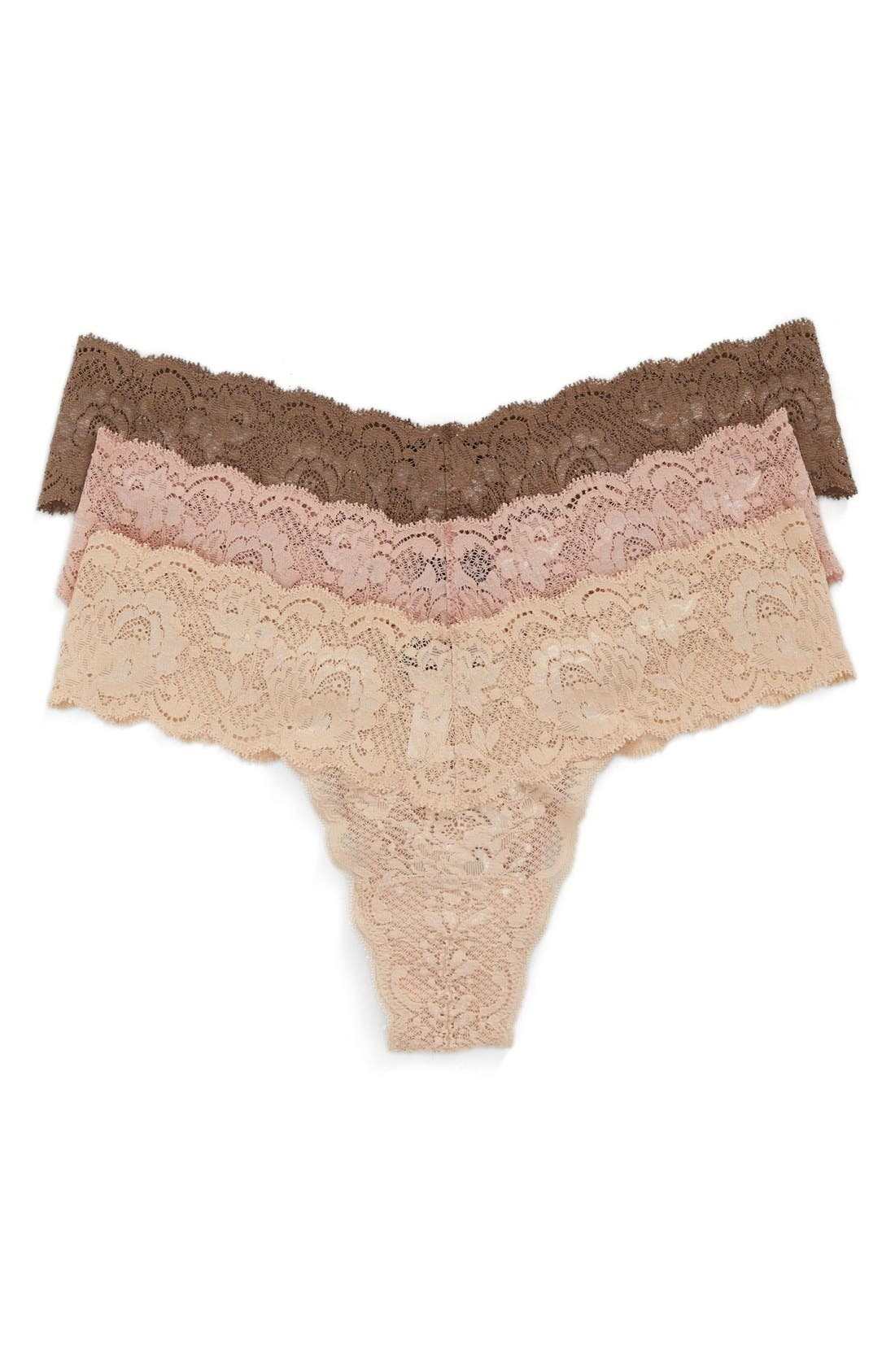 Alternate Image 1 Selected - Cosabella 'Never Say Never Cutie' Thong (3-Pack)