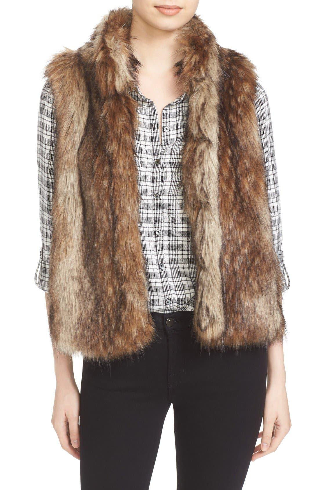 Alternate Image 1 Selected - Soft Joie Narasha Faux Fur Vest