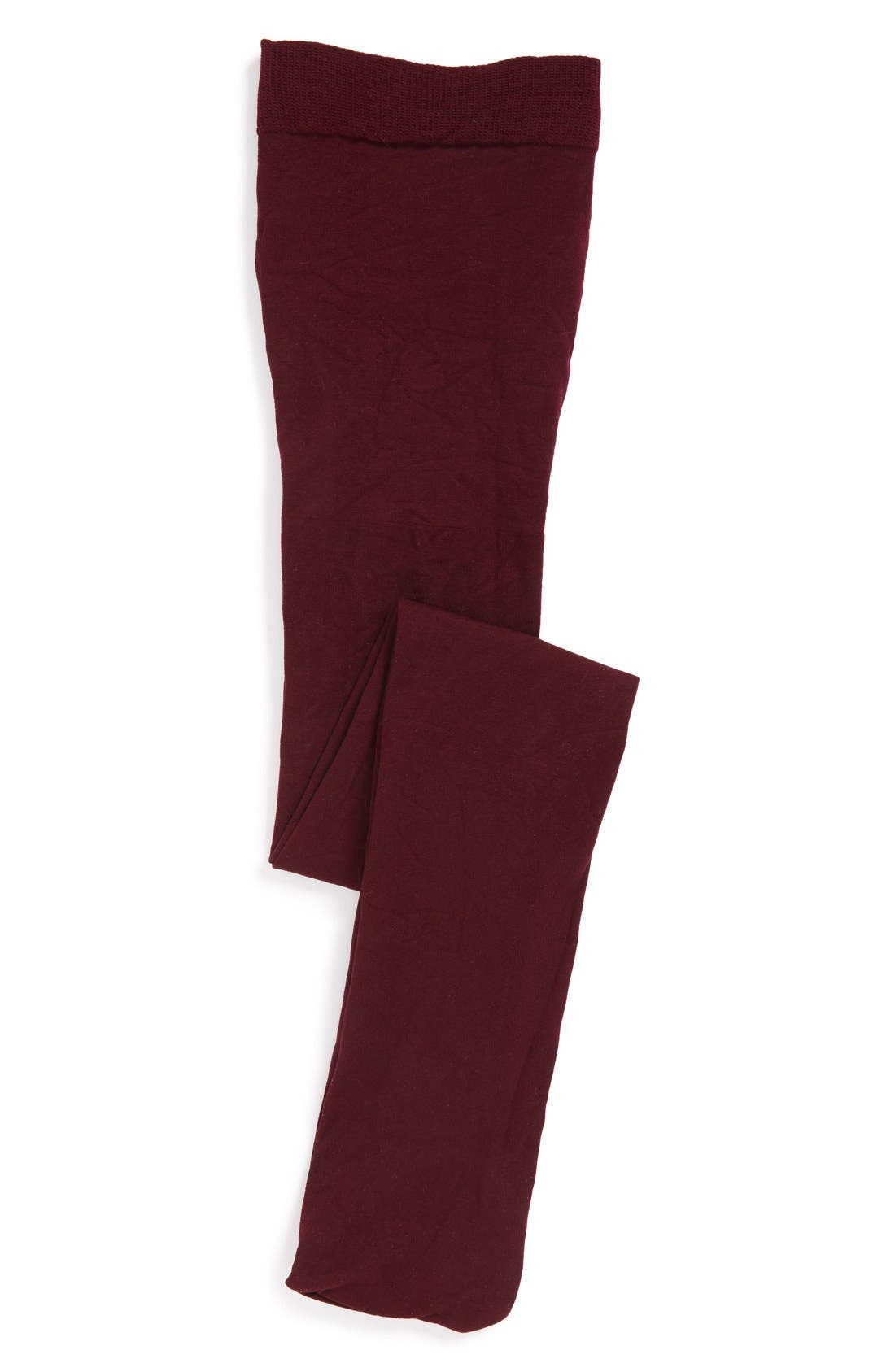 'So Fine' Microfiber Tights,                             Main thumbnail 1, color,                             Burgundy Stem