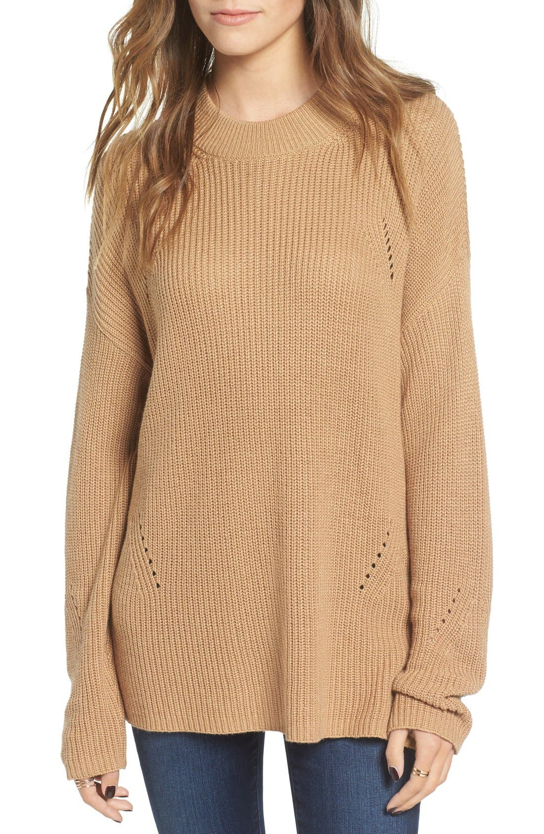 Alternate Image 1 Selected - BP. Side Buckle Knit Pullover